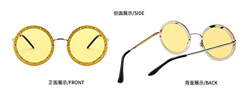 polarisées de du lunettes cercle vintage rond Lennon en style inspirées soleil métallique retro gqEUwUA