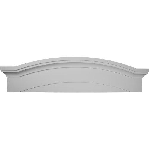 Ekena Millwork PED57X14X01EM 57 1/2-Inch W x 14 7/8-Inch H x 1 1/8-Inch P Massive Emery Pediment