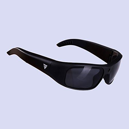 Black GoVision Apollo 1080p HD Camera Glasses Water Resistant Video Recording Sport Sunglasses