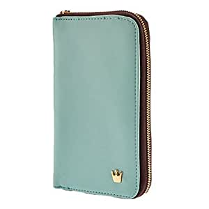 compra Multi Purpose Crown Zip elegante bolso monedero de la cartera para el iPhone y Samsung