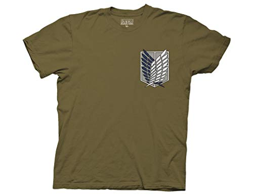 Ripple Junction Attack on Titan Survey Corps Adult T-Shirt 2XL Military Green