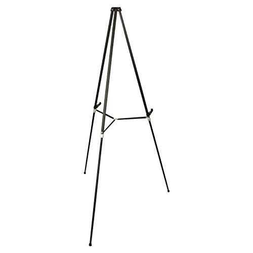US Art Supply 66 inch Tall Showroom Large Black Aluminum Display & Presentation Floor Easel (4-Easels) by US Art Supply (Image #1)