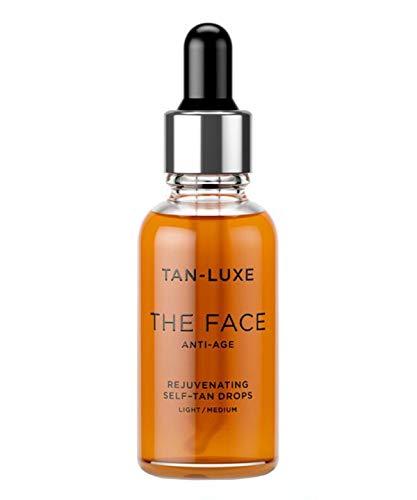Tan-Luxe The Face Anti-Age Rejuvenating Self-Tan Serum Drops 30ml - Light/ Medium by Tan Luxe