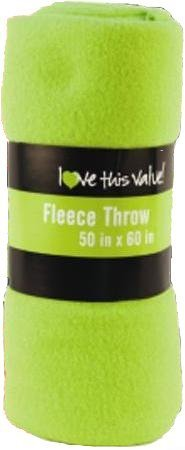 Lime Throw (Imperial 50 x 60 Inch Ultra Soft Fleece Throw Blanket - Lime Green)