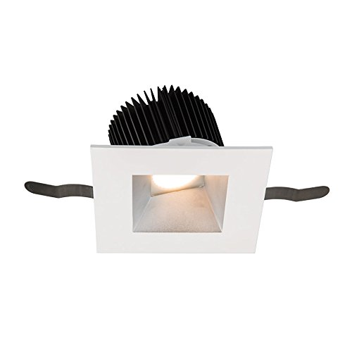 (WAC Lighting R3ASWT-A835-HZWT Aether Square Wall Wash Trim with LED Light Engine Flood 50 Beam 3500K White, Haze)