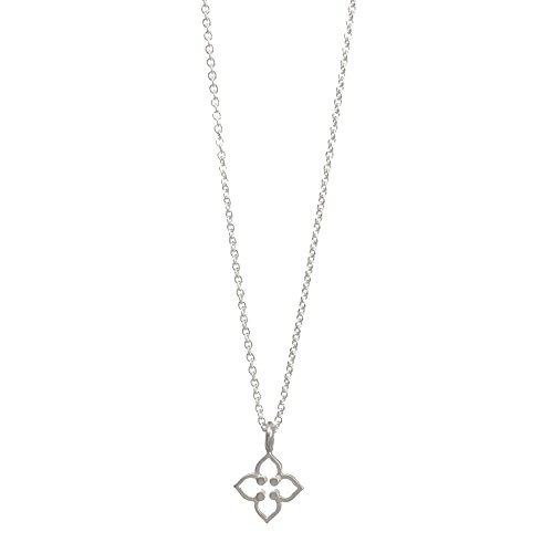 Dogeared Be Your Own Kind Of Beautiful Open Clover Sterling Silver 16