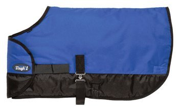 - Tough 1 600D Waterproof Poly Adjustable Foal Blanket, Royal Blue, Medium
