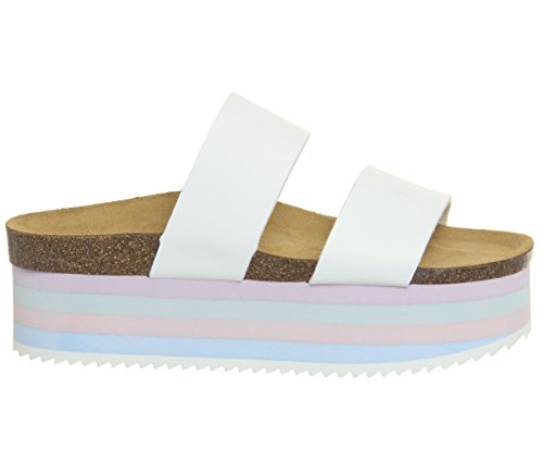 Sole Office Pastels Striped Strap Two Mambo Sandals White Ba0aUqwEn