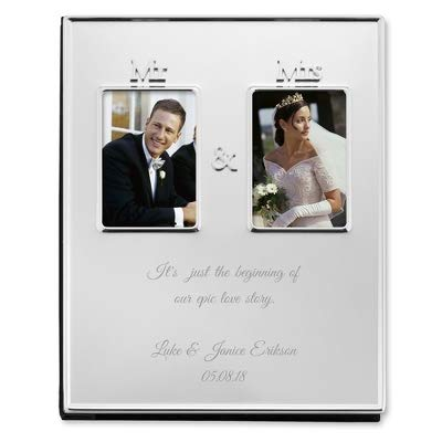 Things Remembered Personalized Mr and Mrs Silver Photo Album with Engraving Included