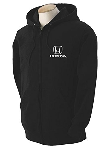 Sweatshirt Honda Hoody (Honda Black Hooded Full Zip Sweatshirt)