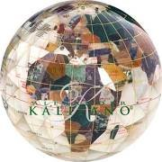 Alexander Kalifano GPW80G-MOPTC 3 in. Gemstone Globe Paperweight with Mother of Pearl Diamond Cut Ocean by ALEXANDER KALIFANO