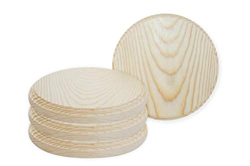 (Better Crafts Round Wooden Plaque, 5-Inch Perfect as a Wood Base for Craft Projects! Pack of 2)