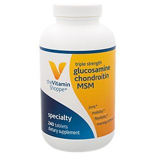 (The Vitamin Shoppe Triple Strength Glucosamine Chondroitin MSM, High Potency Joint Structure and Mobility Supplement with MSM to Support Healthy Collagen for Joint Support (240)