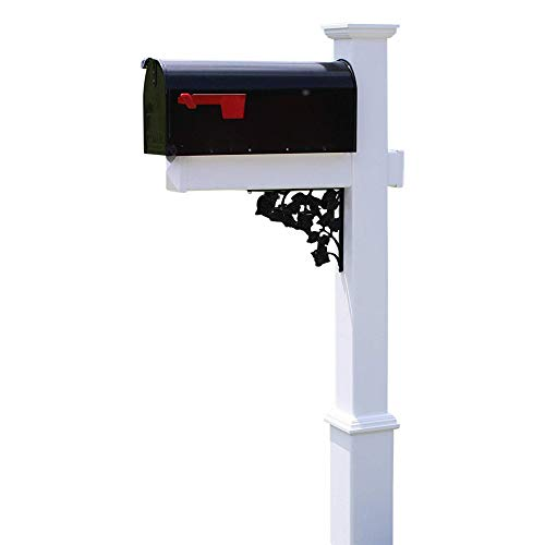 (4EVER The Rodgers Vinyl/PVC Mailbox Post (Includes Mailbox))