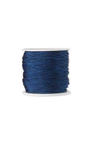(100 Feet Imitation Silk Beading Cord Macrame Jewelry Craft Beads 1mm (BLUE) )