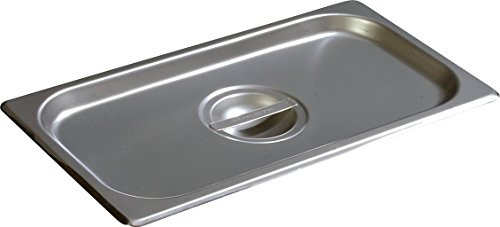 Carlisle 607130C DuraPan Stainless Steel 18-8 One-Third Size Solid Pan Cover, 6-7/8'' Length x 12-3/4'' Width (Case of 6) by Carlisle