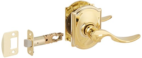 Schlage Lock Company F10STA505CAM Passage St. Anne's Door Lever Set with the Decorative Camelot, Lifetime Polished Brass