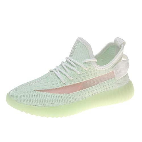 Nite Dawg Light - JJHAEVDY Women's Fluorescence Sneakers Mesh Breathable Super Lightweight Sneakers Non-Slip Night Running Sneakers