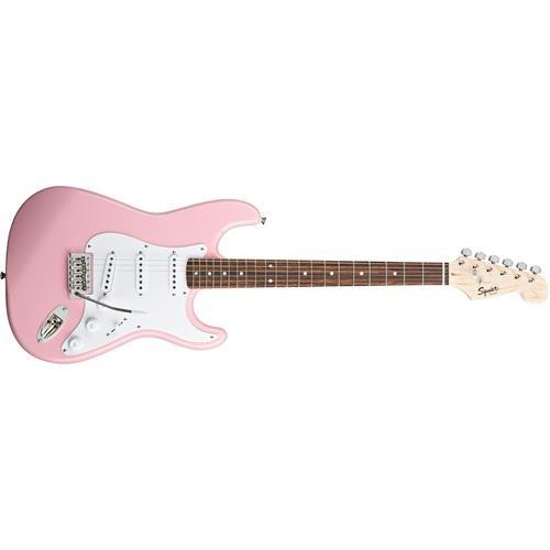 Squier by Fender Bullet Strat Beginner Electric Guitar - Pink - Rosewood Fingerboard