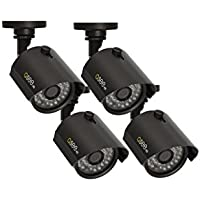 Q-See QTH7211B-4 720p HD Analog Bullet Security Camera 4-Pack (Grey)