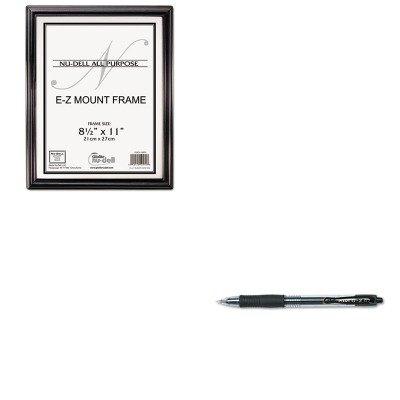 KITNUD10570PIL31020 - Value Kit - Nu-dell EZ Mount Document Frame (NUD10570) and Pilot G2 Gel Ink Pen (PIL31020)