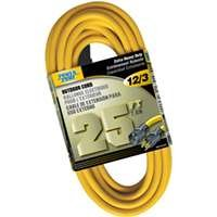 Powerzone Cord Ext Outdoor 12/3x25ft Yel