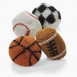 DOZEN (12) Sports Hacky Sacks, Knitted Kick Balls (Pack of 12) Foot Bags/Kick Balls/Hacky Sacks