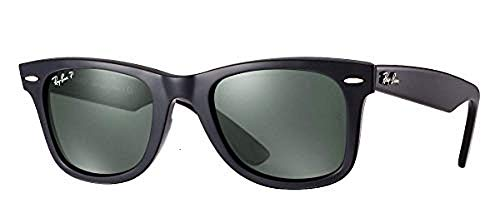 Ray-Ban RB2140 (901/58) Black/Green Polarized 54mm, Sunglasses Bundle with original case, cloth, booklet and accessories (6 ()