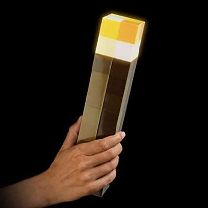 BIEZIAYA Light-Up Wall Torch Rechargeable Night Lamp Hand Held or Wall Mount Lighting Kid Toy Gift