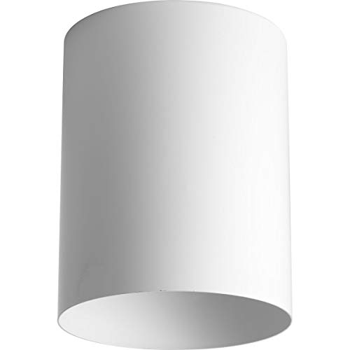 (Progress Lighting P5774-30 5-Inch Flush Mount Cylinder with Heavy Duty Aluminum Construction Powder Coated Finish and UL Listed for Wet Locations, White)