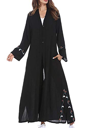 Sweatwater Women's Abaya Smocked Muslim Saudi Arabia for sale  Delivered anywhere in USA