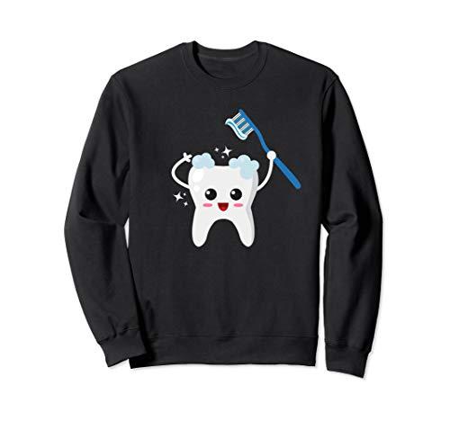 Tooth Toothbrush Halloween Costume Sweatshirt Dentist