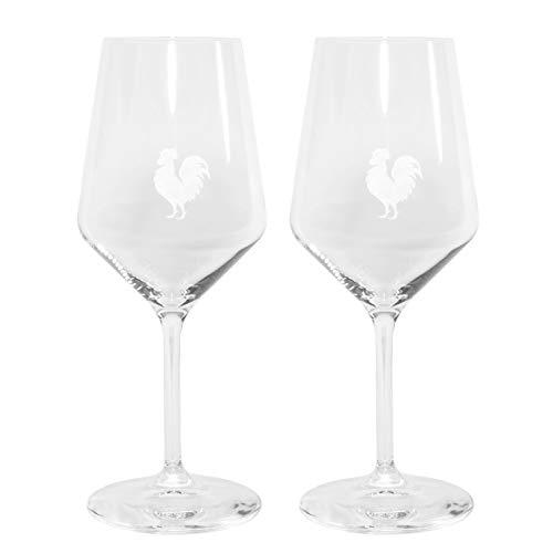 2 Chianti Classico Black Rooster Gallo Nero Red Wine Glasses Etched Logo