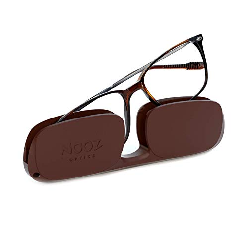 Nooz Optics Reading Glasses - Rectangular Shape - Magnifying Readers for Men and Women - Bao Model Essential Collection