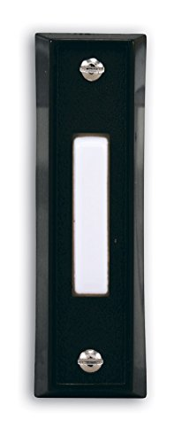 Heath Zenith SL-664-02 Wired Push Button, Black Finish with White Center Button