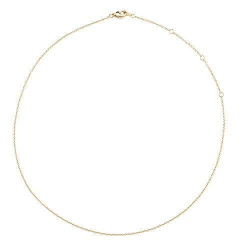 HONEYCAT 24k Gold Plated Thin Chain Adjustable Choker | 13