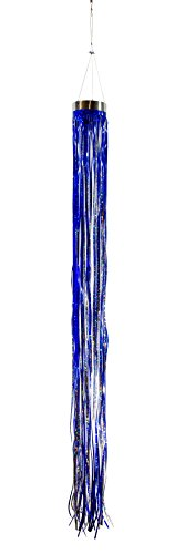 In the Breeze Blue Holographic Mylar Windsock Hanging Decoration - Decorative and Humane Bird and Pest Deterrent
