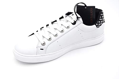 Casual Free Woman Bianco 79a00120 Time Sneaker Shoes Nero Jeans Trussardi White Black Code Leather wEgABc