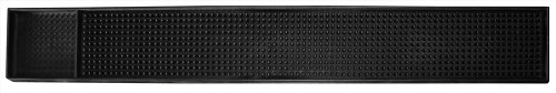 New Star 48438 Rubber Bar Service Mat, 26.5-Inch by 3.25-Inch, Black ()