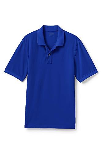 (Lands' End Men's Mesh Short Sleeve Polo Shirt, M, Rich)