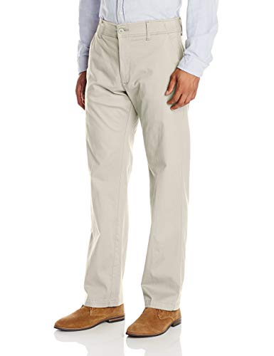 LEE Men's Big & Tall Performance Series Extreme Comfort Pant, Stone, 48W x 34L