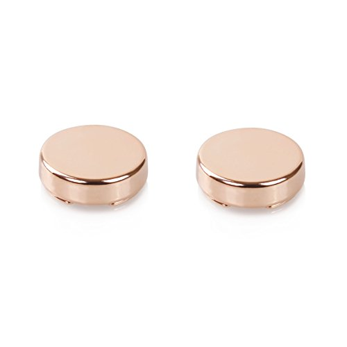 Black And White Mini Rose Top Hat (Rose Gold Mini Button Covers - The Only Cufflinks for Shirts with Buttons)