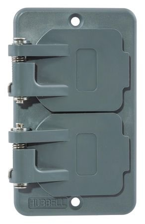 Watertight Cover, For Duplex Receptacle ()