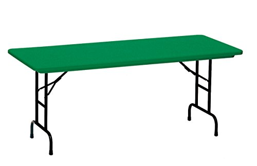 Correll RA2448-29 R Series, Adjustable Height Blow Molded Plastic Commercial Duty Folding Table, Rectangular, 24