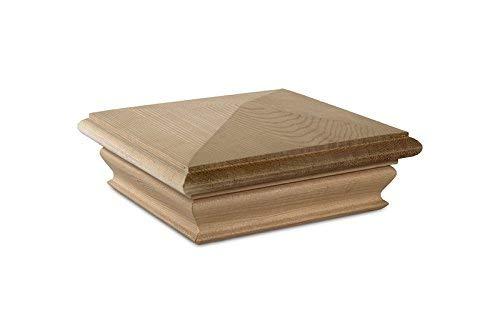 - Woodway Pyramid 5x5 Post Cap - Premium Cedar Wood Fence Post Cap, Newel Post Top 5 x 5, Fits Up to 4.5 x 4.5 Inch Post, Pack of 8