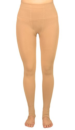 Stirrup Dance Tights (Amoretu Women's 120 Denier Stirrup Tights Pantyhose (120D, Nude))
