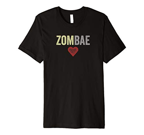 Zombae Halloween Couple Before Anyone Else for Zombie Lovers Premium T-Shirt]()