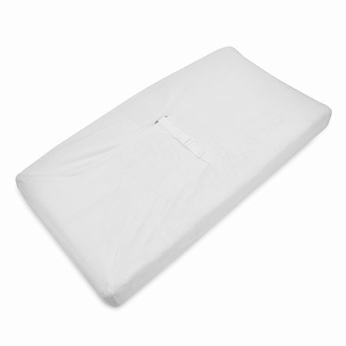 American Baby Company Heavenly Soft Chenille Fitted Contoured Changing Pad Cover, White, for Boys and Girls