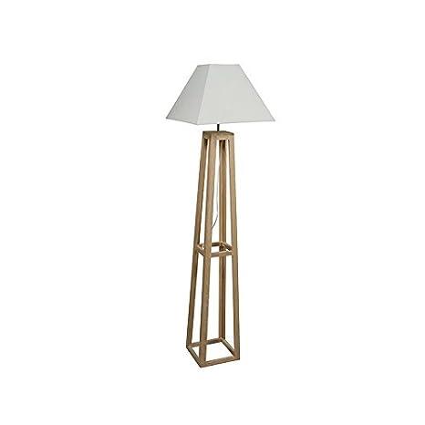 Lámpara de pie hierro y madera roble: Amazon.es: Iluminación
