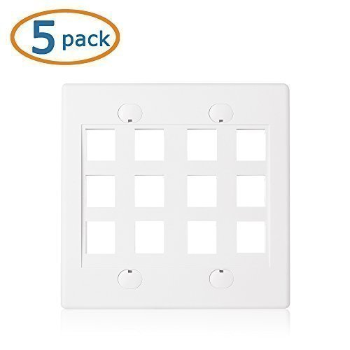 Cable Matters 5 Pack 12 Port Keystone